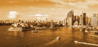 The iconic Sydney Harbor sits on Australia's east coast along the Tasman Sea.