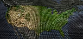 With large oceans to the east and west, America's geography often allowed the United States to develop in isolation.