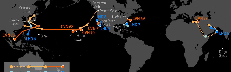 Us Naval Update Map U.S. Naval Update Map: June 22, 2017