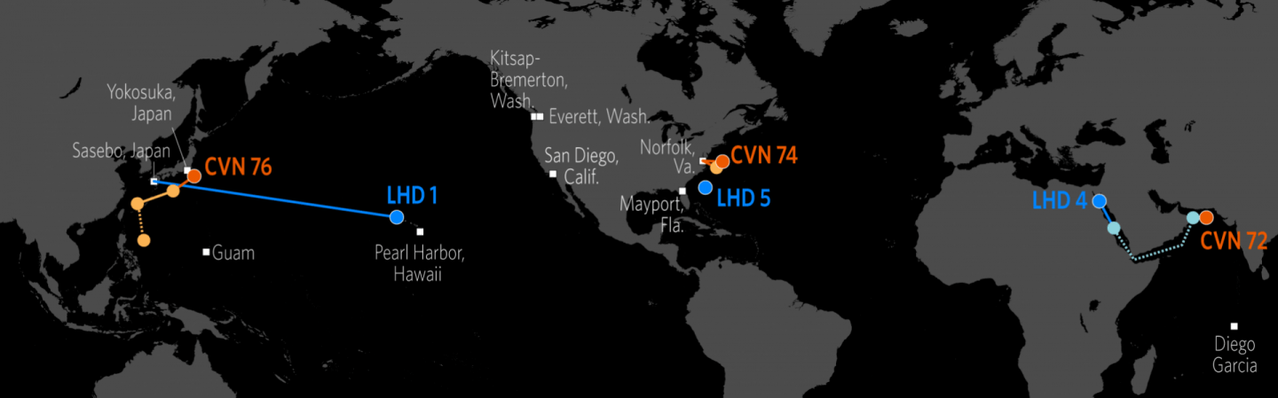 Us Aircraft Carrier Locations Map U.S. Naval Update Map: Sept. 5, 2019