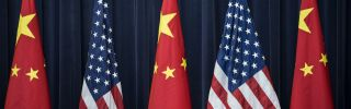 Picture of American and Chinese flags