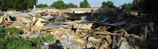 Rubble remains July 27, 2010, at the former headquarters of Boko Haram destroyed in 2009 by the police and military in the Nigerian city of Maiduguri in Borno state.