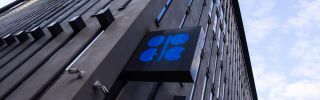 OPEC's logo is seen at the organization's headquarters on Sept. 26, 2019.