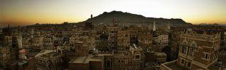 Overlooking Sanaa, Yemen's capital city.