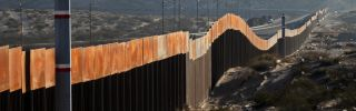 A view of the border wall between Mexico and the United States, in Ciudad Juarez, Chihuahua state, Mexico on Jan. 19, 2018.