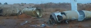 This photo shows pieces of a Qaim 1 missile after Iran targeted the Ayn al-Asad Air Base in Iraq on Jan. 8, 2020.