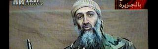 A videotape released by Al-Jazeera TV featuring Osama Bin Laden is broadcast Dec. 27, 2001.