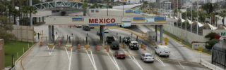 Cars head into U.S.-Mexico border crossing in San Ysidro, California.