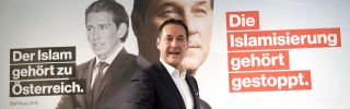 Heinz-Christian Strache, leader of the nationalist Freedom Party of Austria, speaks to reporters at a Sept. 8 press conference in Vienna.