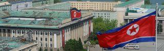 Kim Il Sung Square in Pyongyang, North Korea.