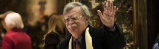 Former U.N. Ambassador John Bolton leaves a meeting in Trump Tower in December 2016.