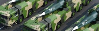 This photo shows the Dongfeng-17 hypersonic glide vehicle