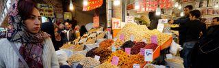 Iranians shop at Tehran's ancient Grand Bazaar.