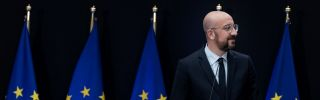 Newly appointed European Council President Charles Michel gives a speech during the handover ceremony between outgoing European Council President Donald Tusk and his successor, Michel, in Brussels on Nov. 29, 2019.