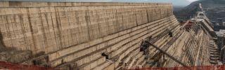 A general view of the Grand Ethiopian Renaissance Dam near Guba, Ethiopia, on Dec. 26, 2019.