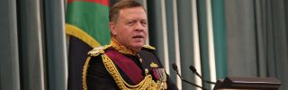 Jordan's King Abdullah II attends the opening of the country's parliament in 2016 in Amman, Jordan. As the economy founders, Jordan is facing the increasing influence of various protesters.