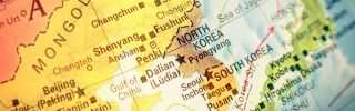 A map shows North and South Korea.