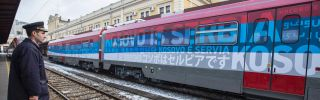 """In January, conflict almost erupted in the Balkans after the Kosovar government dispatched special police forces to stop a Serbian train headed into Kosovo's majority-Serb northern territory, emblazoned with the slogan """"Kosovo is Serbia"""" in 21 languages."""