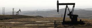 Pump jacks in the Kurdish town of Derik, on the border with Turkey and Iraq, Nov. 25.