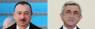 Azerbaijani President Ilham Aliyev (L) and Armenian President Serzh Sarkisian
