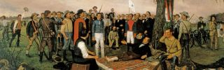The surrender of Mexican Gen. Antonio Lopez de Santa Anna after the Battle of San Jacinto capped an unlikely victory for the Texians under Gen. Sam Houston that set the modern relationship between Mexico and the United States.