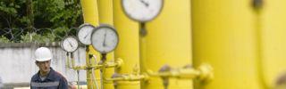 An employee checks equipment at the Dashava underground natural gas storage facility near Styri, outside Lviv, Ukraine.