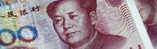 Chinese 100-yuan notes in Beijing on Aug. 25.