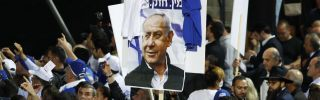 Israeli supporters of Prime Minister Benjamin Netanyahu appear to have plenty to celebrate after preliminary election results were released April 10.