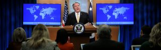 Secretary of State Mike Pompeo announces that the United States is suspending its participation in the Intermediate-Range Nuclear Forces Treaty on Feb. 1, 2019.