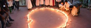 Candles in the shape of Sri Lanka on April 29 in Ahmedabad, India.
