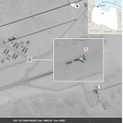 A satellite image shows the arrival of Russian fighter jets at an air base in Libya controlled by Khalifa Hifter's rebel army.