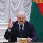 Belarusian President Aleksandr Lukashenko on May 28, 2021, in Minsk, Belarus.