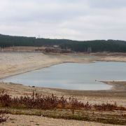 A photo shows one of the shallow water reservoirs in Simferopol, Crimea.
