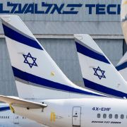 El Al aircraft on the tarmac in August 2020 at Israel's Ben Gurion Airport in Lod.