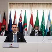 Italy's top foreign policy officials attend a G-20 joint session on June 29, 2021.