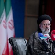 Iran's incoming president Ebrahim Raisi holds a press conference in Tehran on June 21, 2021.