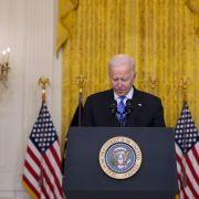 U.S. President Joe Biden delivers an address in the East Room of the White House on Oct. 13, 2021.