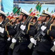 A military parade in the Iranian capital of Tehran on April 18, 2019.
