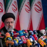 Iranian President-elect Ebrahim Raisi holds a press conference June 21, 2021, in Tehran, Iran.