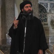 This July 5, 2014, photo shows an image grab taken from a propaganda video released by al-Furqan Media showing Islamic State leader Abu Bakr al-Baghdadi as he declares himself caliph in Mosul.