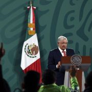 Mexican President Andres Manuel Lopez Obrador delivers a press conference about the results of Sunday's midterm election June 7, 2021, at the National Palace in Mexico City.