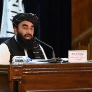 Taliban spokesman Zabiullah Mujahid speaks during a press conference in Kabul on September 7, 2021.