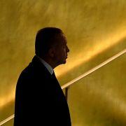 Turkish President Recep Tayyip Erdogan arrives at the U.N. headquarters in New York City on Sept. 21, 2021.