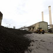 A pile of briquettes, which are compressed blocks of coal dust, is seen in Melbourne, Australia, in March 2017.