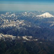 The Caucasus Mountains on Oct. 9, 2020.