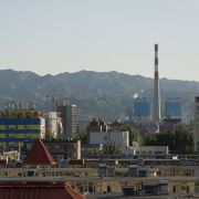 The skyline of the Inner Mongolian city of Baotou is blackened by pollution from factories processing rare earth elements, which are essential for the production of mobile phones and computers.