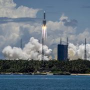 The Tianwen-1 probe is successfully launched on July 23, 2020, in Wenchang, Hainan, China.
