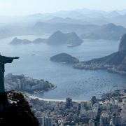Christ the Redeemer, one of Brazil's most recognizable landmarks, overlooks the capital city of Rio De Janeiro.