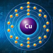 An illustration shows the copper atom.