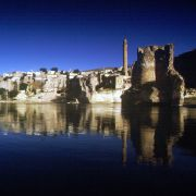 An undated photo shows Hasankeyf, an ancient city on the banks of the Tigris River in southeastern Turkey that will be inundated as part of the Ilisu dam project.